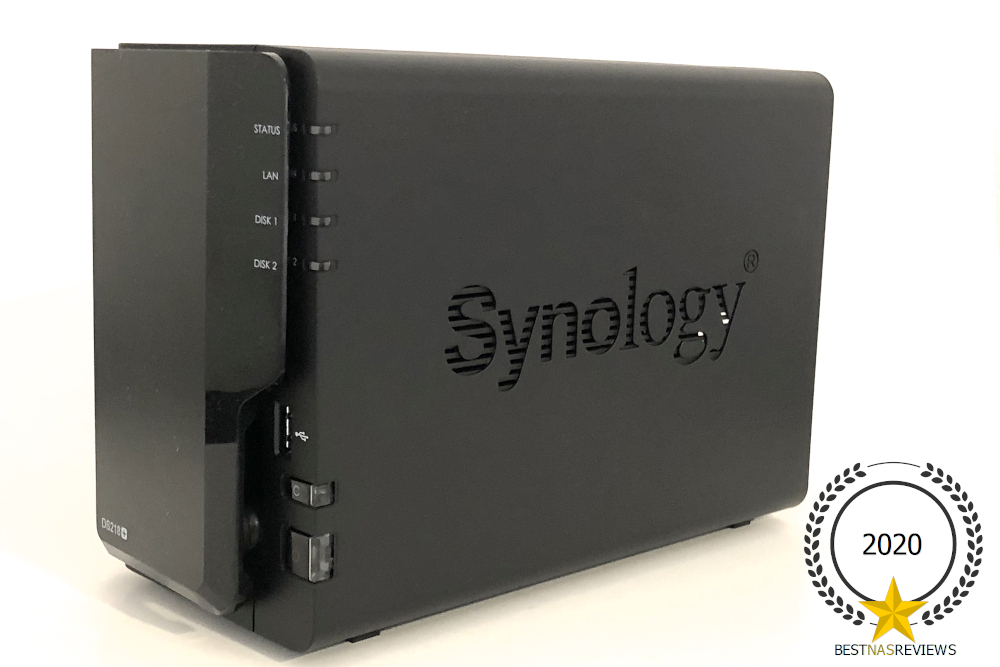 Synology DiskStation DS218 Review - photo of synology from a front-side angle